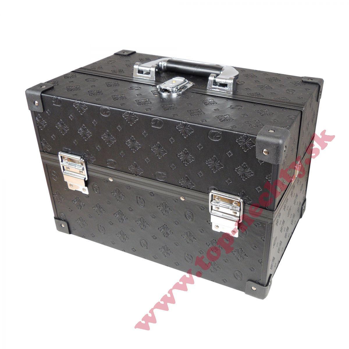 707a1be5752ac Čierny kozmetický kufrík so vzorom