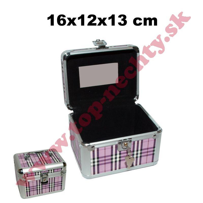78c4e990be0a2 Károvaný kufrík na kozmetiku