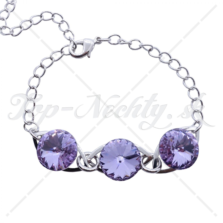 Náramok s Violet kryštálmi Swarovski 880448c5197