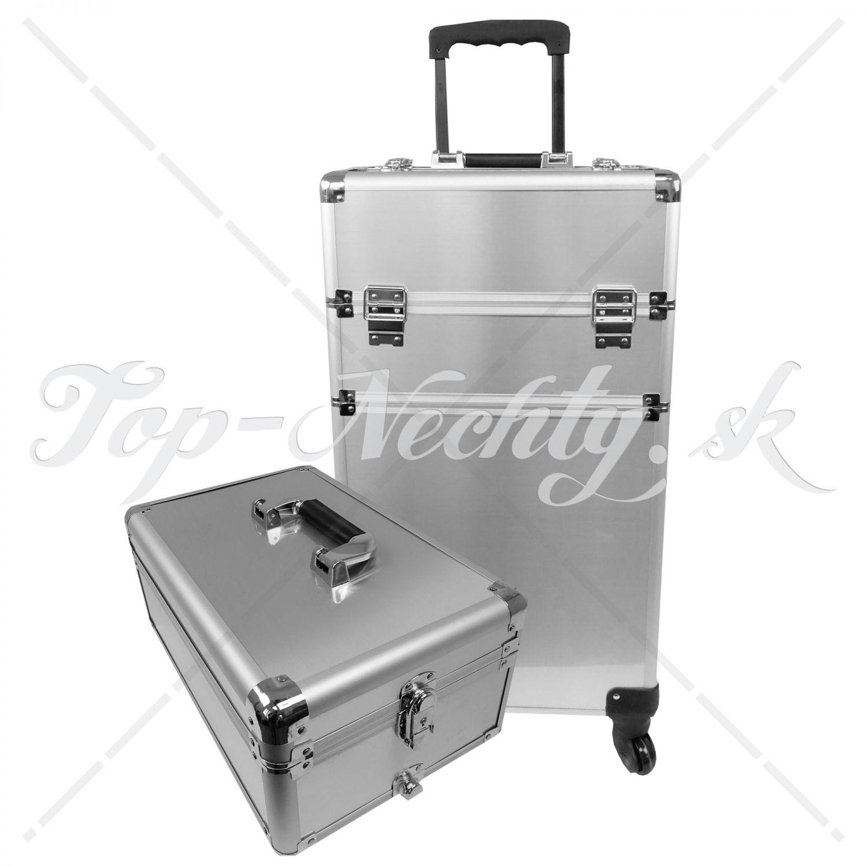 304701914b1de Veľký strieborný kufrík s vrchnákom