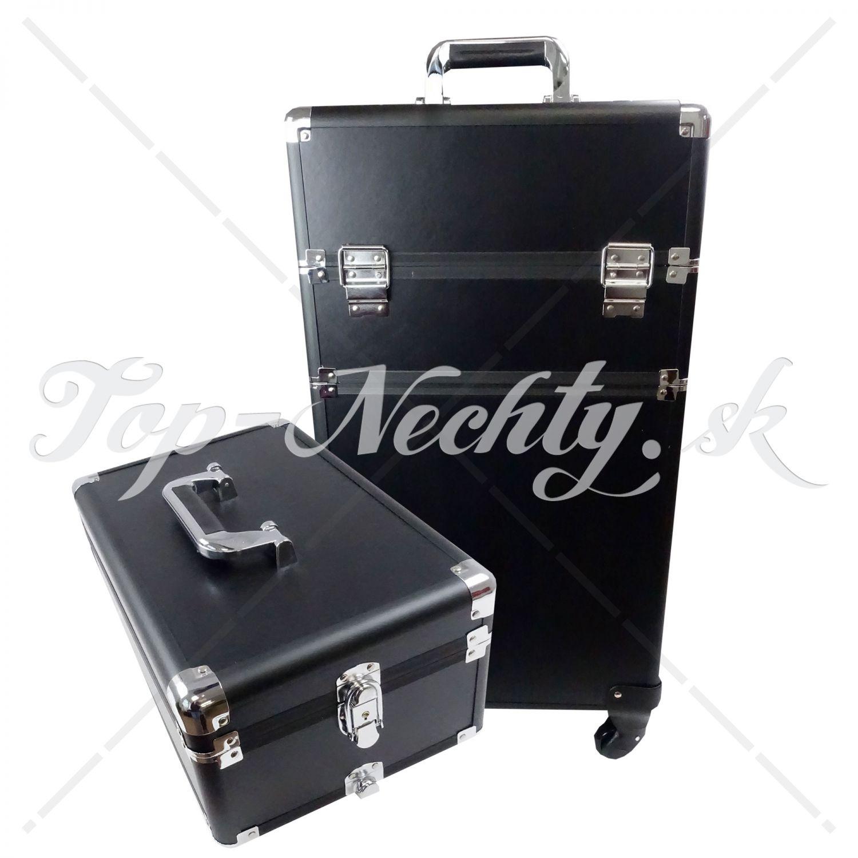 98ee3d622ecfd Veľký čierny kozmetický kufrík s vrchnákom